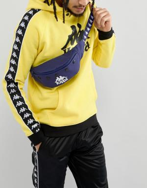 Синяя сумка-кошелек на пояс Banda Kappa. Цвет: синий