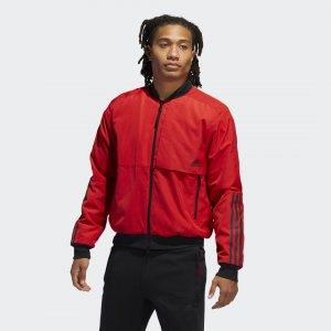 Куртка-бомбер Must Haves Athletics adidas. Цвет: черный