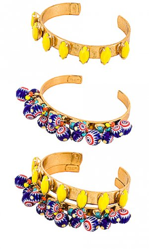Набор браслетов blake & quinn Elizabeth Cole. Цвет: металлический золотой