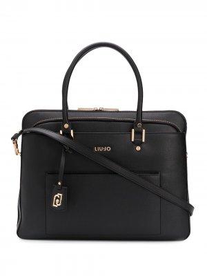 Сумка для ноутбука с карманами LIU JO. Цвет: черный