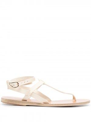 Сандалии с ремешком на щиколотке Ancient Greek Sandals. Цвет: белый