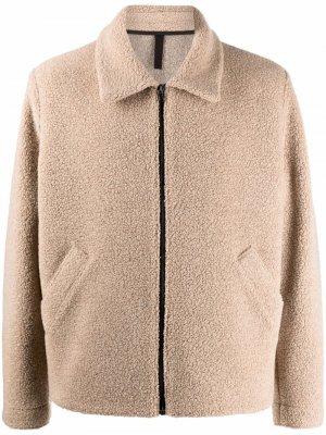 Куртка-рубашка на молнии Harris Wharf London. Цвет: нейтральные цвета