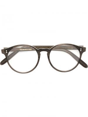 Оптические очки в круглой оправе Cutler & Gross. Цвет: чёрный