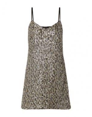 Короткое платье ANNA SUI. Цвет: золотистый