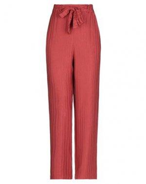 Повседневные брюки DES PETITS HAUTS. Цвет: кирпично-красный
