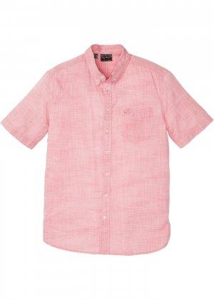 Рубашка bonprix. Цвет: красный