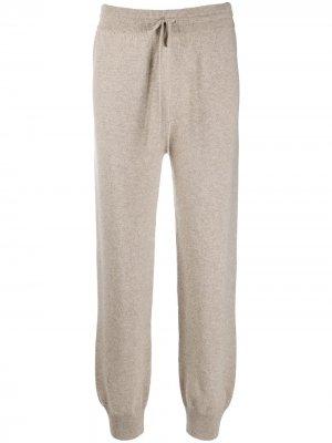 Спортивные брюки с кулиской Agnona. Цвет: нейтральные цвета