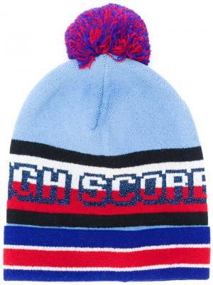 Вязаная шапка дизайна колор-блок Hilfiger Collection. Цвет: разноцветный