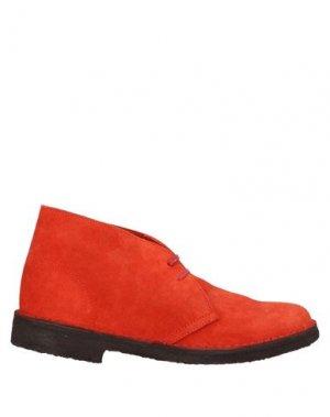 Полусапоги и высокие ботинки MISTER TAMBOURINE. Цвет: красный