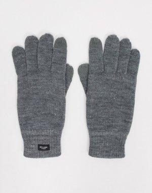 Серые вязаные перчатки -Серый Only & Sons