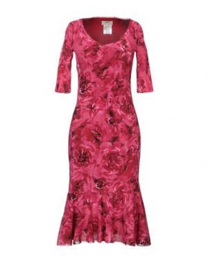 Платье до колена FUZZI. Цвет: пурпурный