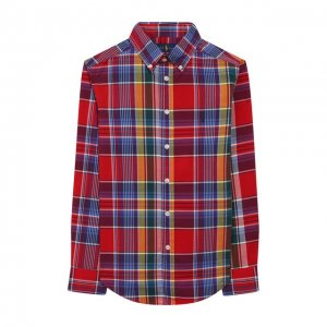 Хлопковая рубашка Ralph Lauren. Цвет: красный