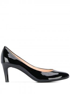 Лакированные туфли-лодочки на каблуке средней высоты Hogl. Цвет: черный