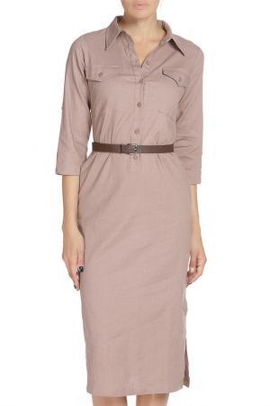 Платье, пояс Libellulas. Цвет: бежевый