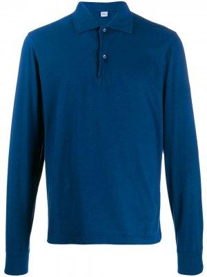 Рубашка-поло с длинными рукавами Aspesi. Цвет: синий