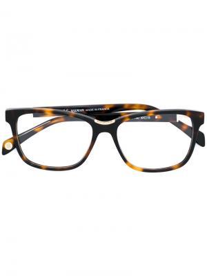 Tortoiseshell-effect square glasses Balmain. Цвет: коричневый