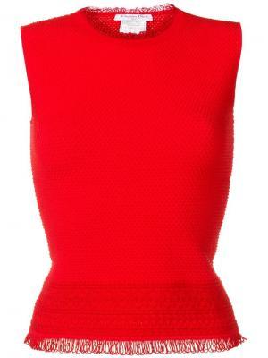 Фактурный топ Christian Dior Pre-Owned. Цвет: красный