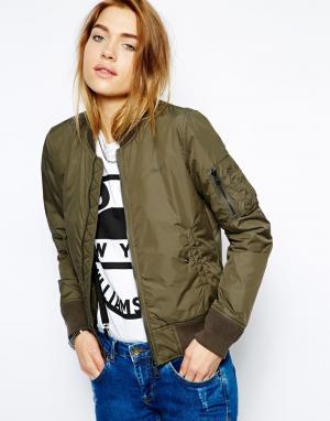 Легкая куртка-пилот NYC Schott. Цвет: зеленый
