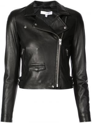 Байкерская куртка Anil Iro. Цвет: чёрный