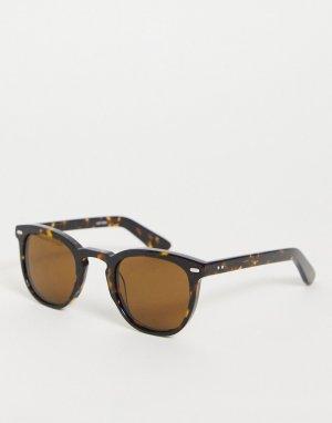 Коричневые солнцезащитные очки в стиле унисекс круглой черепаховой оправе Cut Nine-Коричневый цвет Spitfire