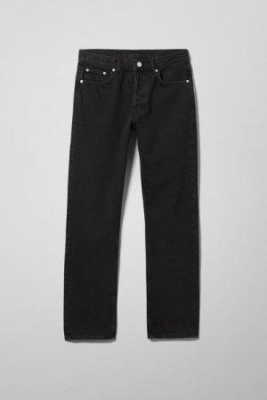 Прямые джинсы с высокой талией Wire Weekday. Цвет: черный