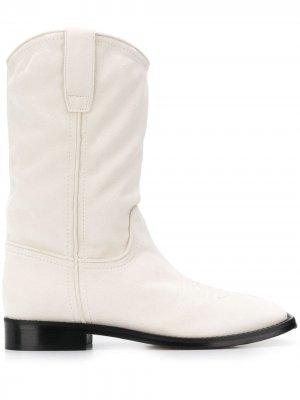 Ковбойские ботинки Alberta Ferretti. Цвет: белый