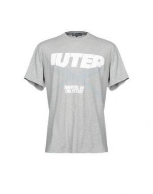 Футболка IUTER. Цвет: серый