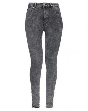 Джинсовые брюки CHEAP MONDAY. Цвет: стальной серый
