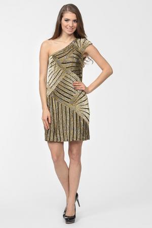 Платье вечернее Basix Black Label. Цвет: золотой