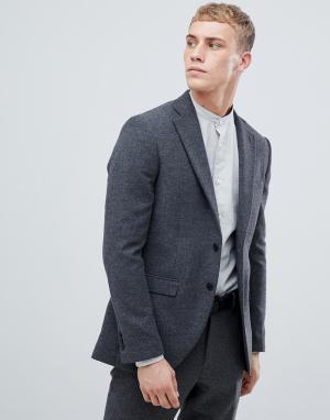 Приталенный блейзер с добавлением шерсти Premium-Серый Jack & Jones