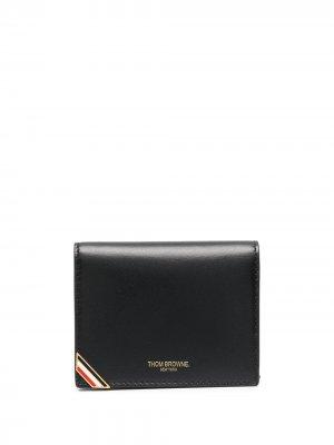 Складной бумажник с полосками RWB Thom Browne. Цвет: черный
