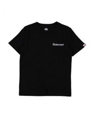 Футболка ELEMENT. Цвет: черный