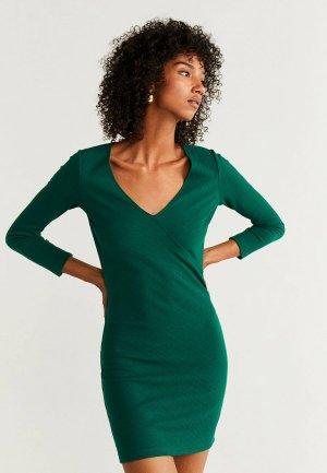 Платье Mango - NEUVERTU. Цвет: зеленый