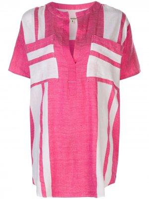 Рубашка-туника Zoya lemlem. Цвет: розовый