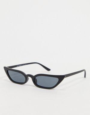 Черные матовые солнцезащитные очки кошачий глаз -Черный AJ Morgan