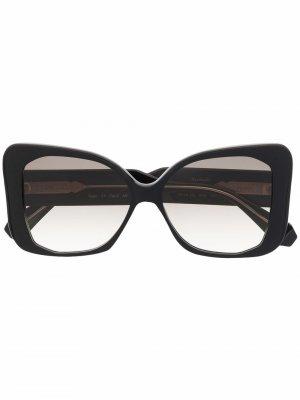 Солнцезащитные очки в массивной оправе GIGI STUDIOS. Цвет: черный