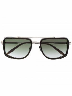 Солнцезащитные очки Stargazer в квадратной оправе Akoni. Цвет: серебристый