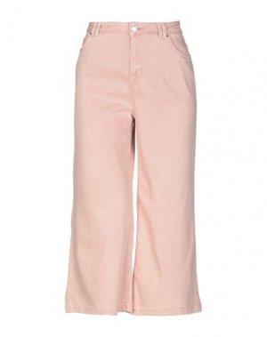 Джинсовые брюки-капри SILVIAN HEACH. Цвет: розовый
