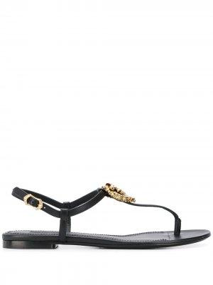 Сандалии Devotion Dolce & Gabbana. Цвет: черный
