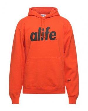 Толстовка ALIFE. Цвет: оранжевый