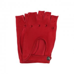 Замшевые перчатки Giorgio Armani. Цвет: красный