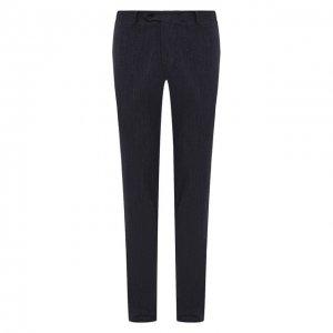 Хлопковые брюки Canali. Цвет: синий
