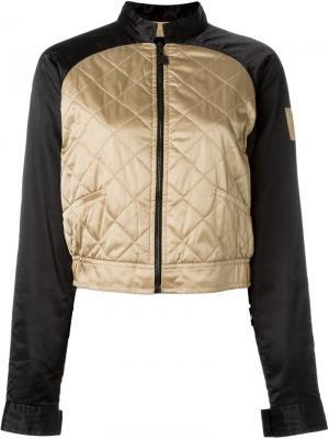 Укороченная куртка-бомбер Chanel Vintage. Цвет: металлический