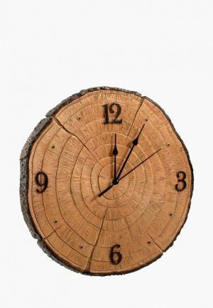 Часы настенные Viron. Цвет: коричневый