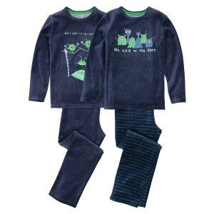 Комплект из 2 пижам LaRedoute. Цвет: синий