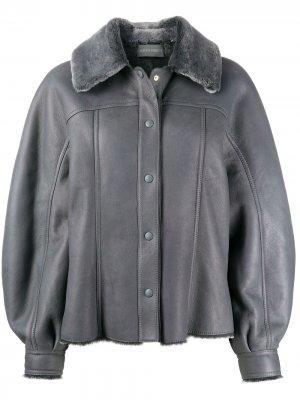 Куртка с объемными рукавами Alberta Ferretti. Цвет: серый