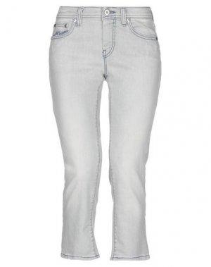 Джинсовые брюки-капри PT Torino. Цвет: светло-серый