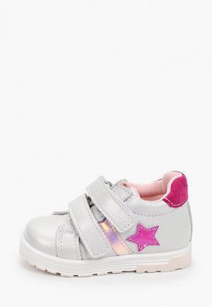 Ботинки Котофей. Цвет: серебряный