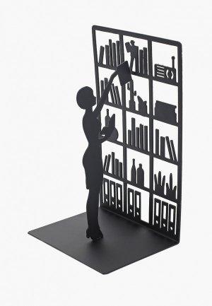 Держатель для книг Balvi The Library. Цвет: черный