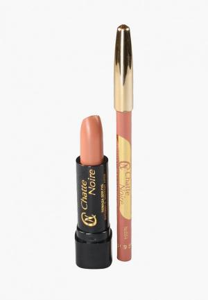 Набор для макияжа губ Chatte Noire Карандаш + Помада  №13, 5,75. Цвет: бежевый